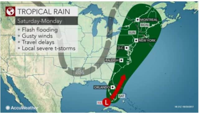 A look at the storm that is expected to bring Nor'easter-type conditions to the area Sunday and overnight into early Monday.