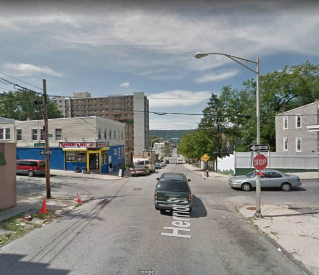 A group of people was shot at near the intersection of Herriot Street and Jackson Avenue in Yonkers.