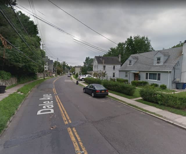 A swastika was found painted on Dale Avenue in Ossining.