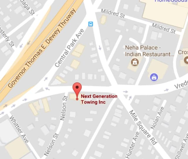 Three firefighters were injured battling a blaze at Next Generation Towing in Yonkers.