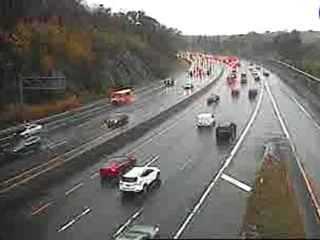 Traffic is moving well on most major roadways in the area, including I-287, but several roads are closed due to downed trees, including Route 139 in Northern Westchester.