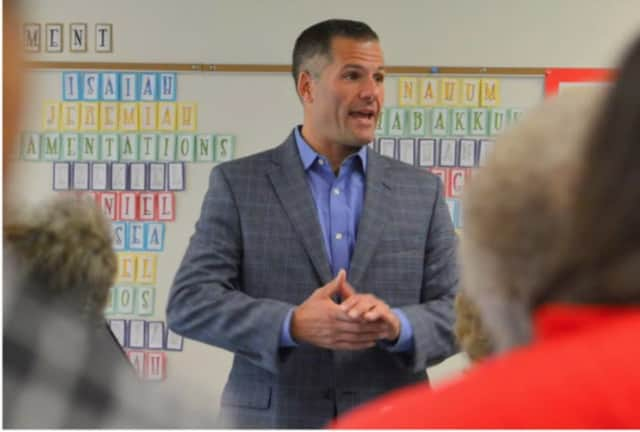 Dutchess County Executive Marc Molinaro, a Republican, won a GOP straw poll supporting his candidacy for New York governor.