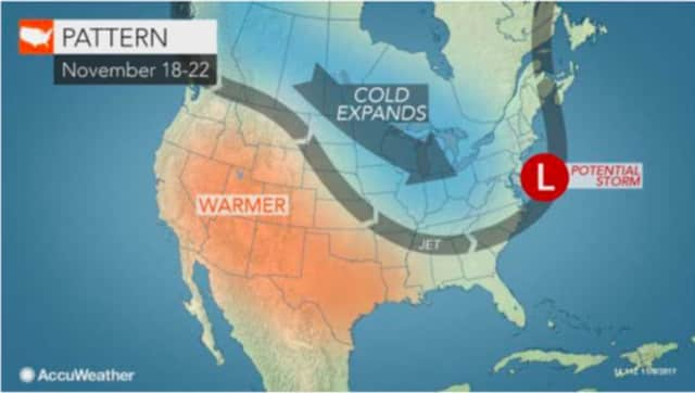 A look at the pattern that could result in a pre-Thanksgiving snowstorm in the tristate area.