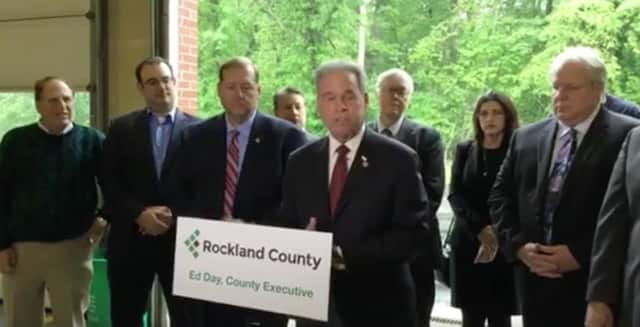 Ed Day and other county leaders as they oppose the Patrick Farms development.