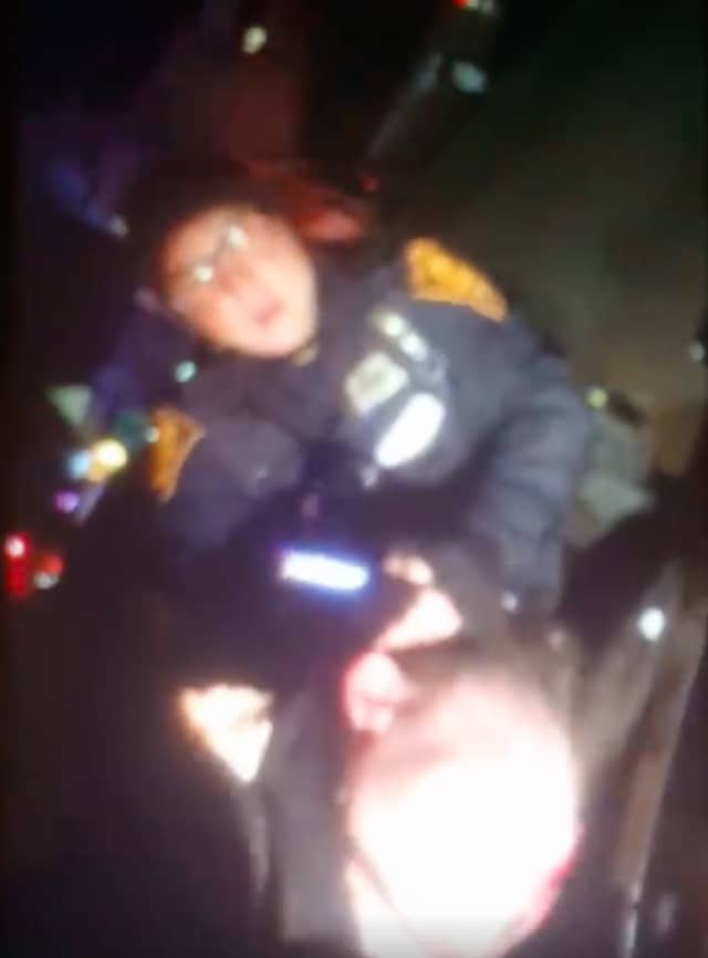 A video of the incident involving the Bridgeport officers making an arrest has been posted on Facebook.