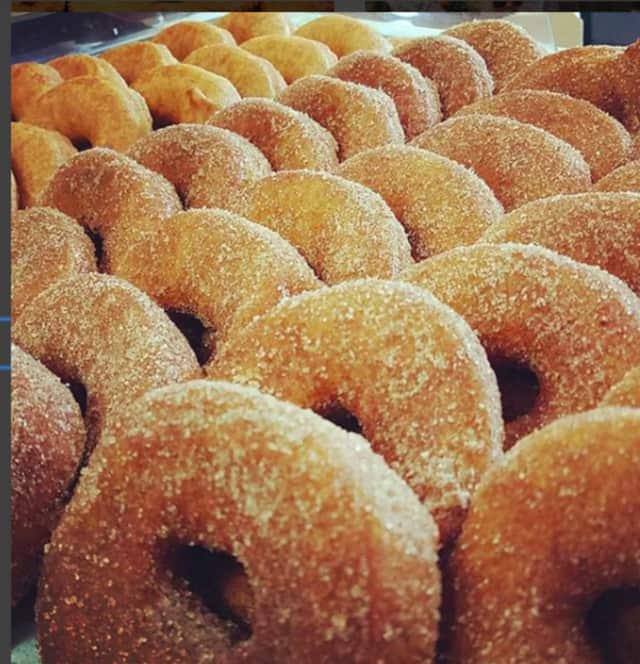 Apple cider doughnuts from Abma's Farm.