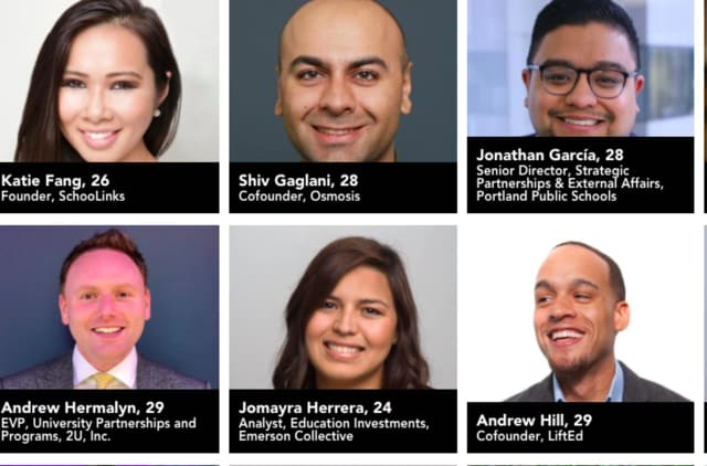 Andrew Hermalyn, bottom left, made Forbes' 30 Under 30 list.