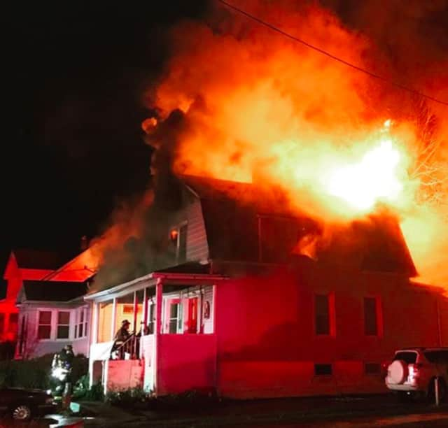 A Stratford man died in a fire in his home on Melville Street on Saturday night.