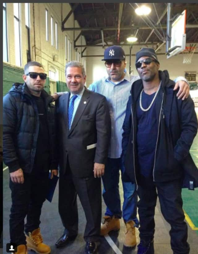 Yonkers Mayor Mike Spano with DMX.