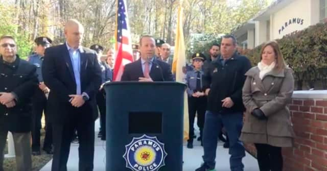 US Rep. Josh Gottheimer announces the award in Paramus.