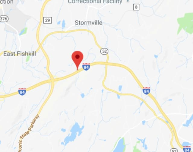 I-84 and Route 52 in East Fishkill are closed due to a tractor-trailer accident.
