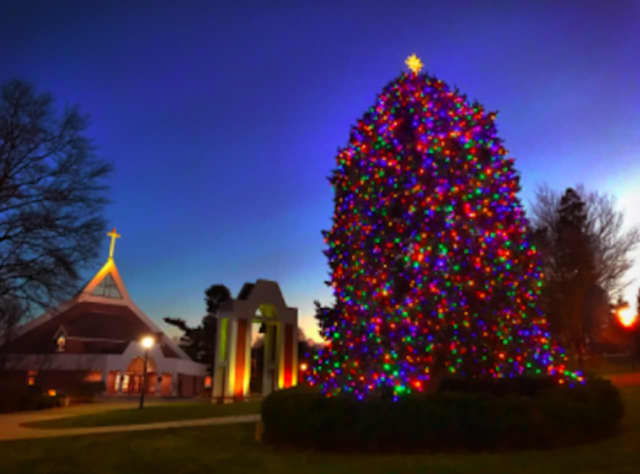 The tree lighting at Fairfield University will be part of a Christmas Eve special to air nationally on CBS.
