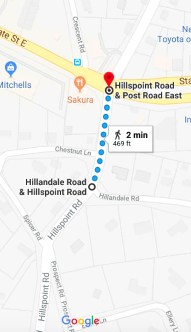 The northbound lane of Hillspoint Road will be closed on Friday.
