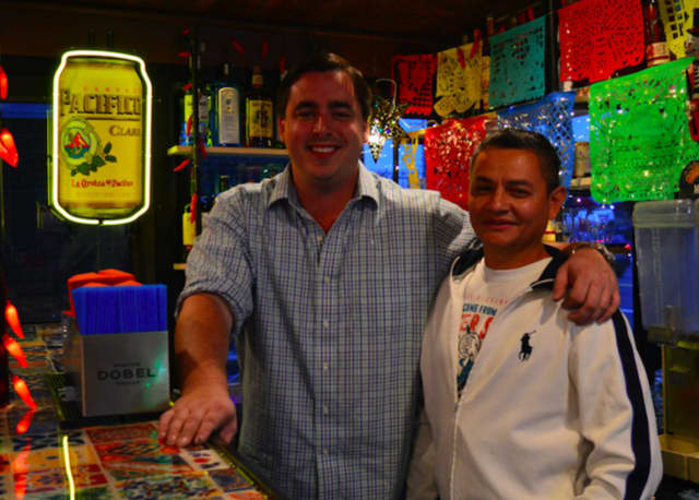 Business partners Ryan Gillespie and Nicho Guevara look forward to opening Tequila Revolucion in Fairfield this month.