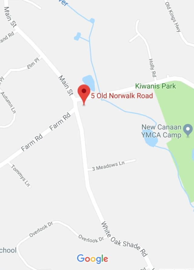 The water main break is at 5 Old Norwalk Road in New Canaan, Aquarion said.