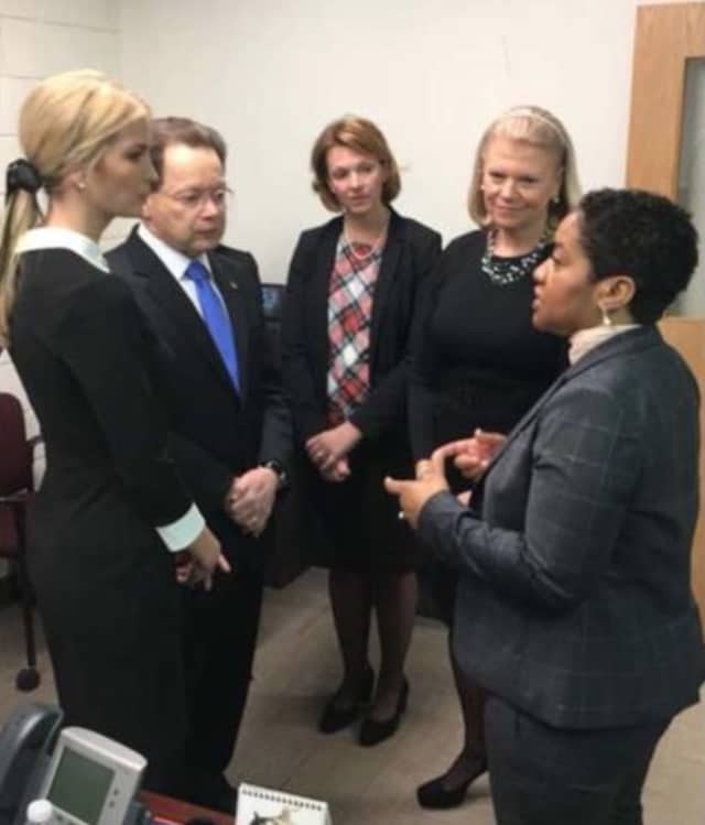 Ivanka Trump with IBM CEO Ginni Romnerty, NCC President David Levinson and NECA Director Karen Amaker