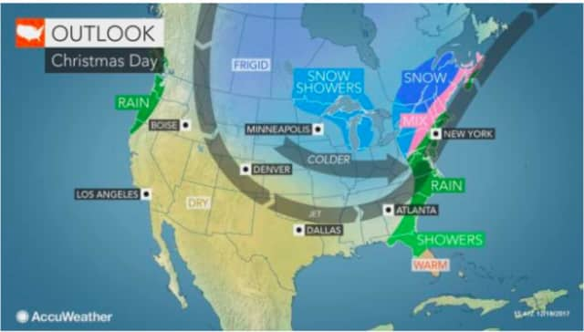 A look at the weather outlook for Christmas Day.