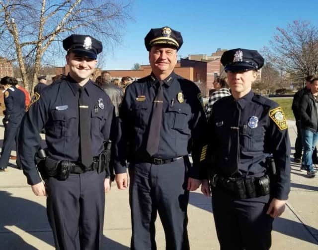 Norwalk Officers Ralph DeVito and Stephanie Howard graduate this week from the POST Academy.