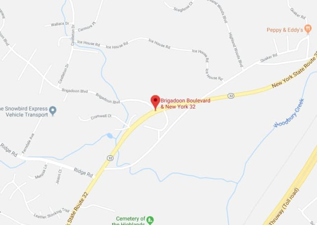 Route 32 in Orange County is closed due to a serious crash involving a tanker truck.