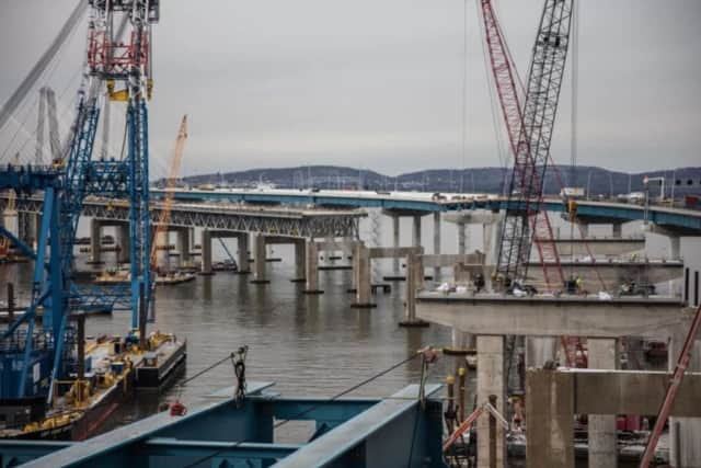 Construction work has been halted on the new Tappan Zee Bridge for the holiday.