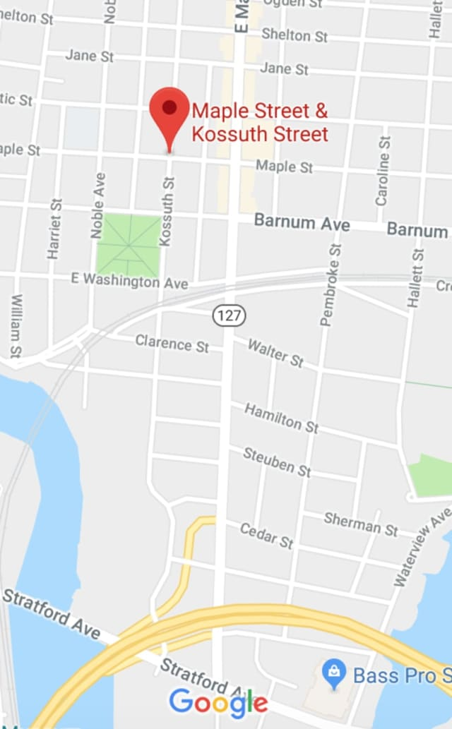 The fatal shooting occurred Saturday morning at Maple and Kossuth Streets in Bridgeport.