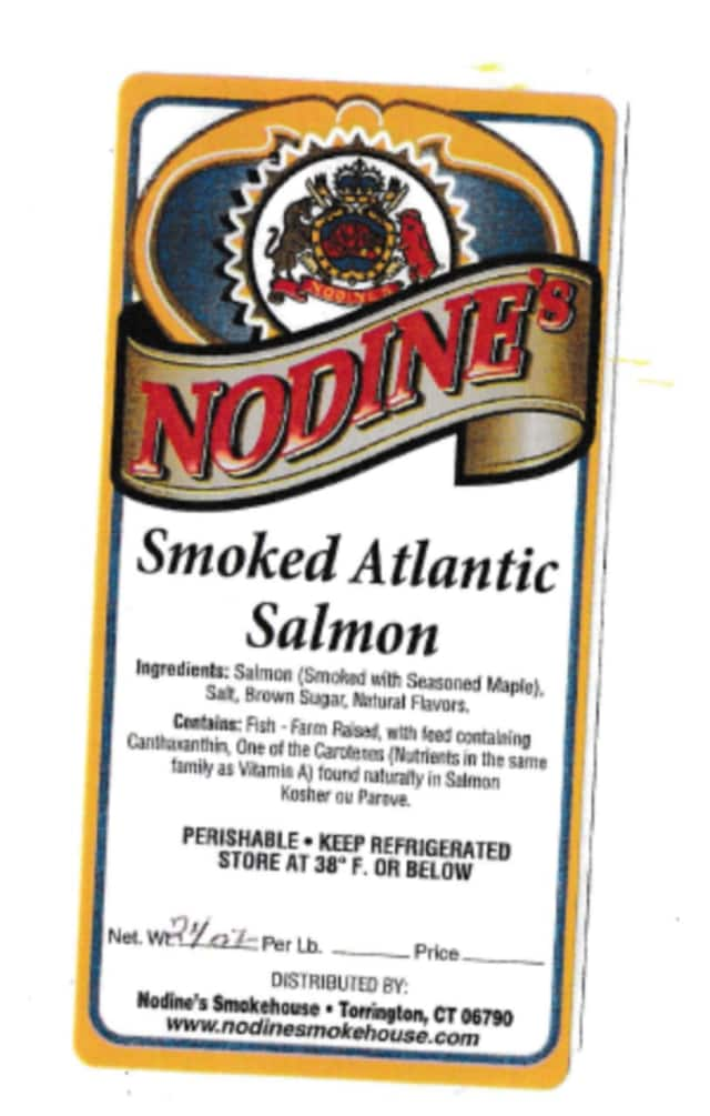 Nodine's Smokehouse Inc. of Torrington is recalling smoked salmon due to fears of listeria.