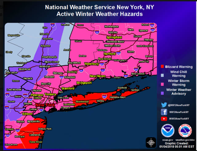 A look at Winter Weather Warnings and Advisories by county.