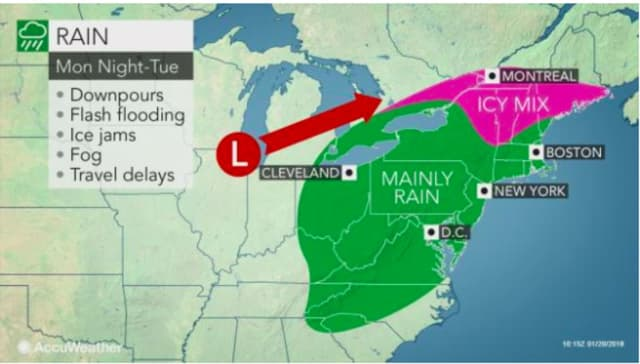 A look at the storm system moving through the area.