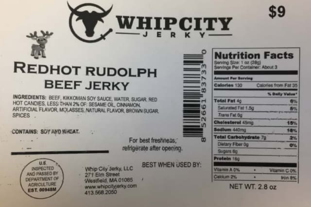 Whip City Jerky has recalled more than 1,000 pounds of products nationwide.