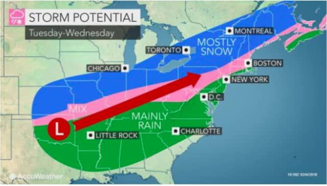 A look at the storm system expected to affect the area this week.