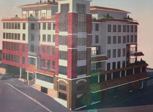 Artist's rendering of Parkview Terrance, the proposed 53-unit apartment complex on Gramatan Avenue in Mount Vernon.