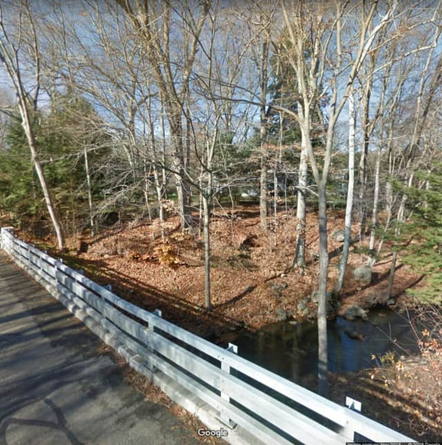 New Canaan first responders rescued a man who fell through an icy pond.
