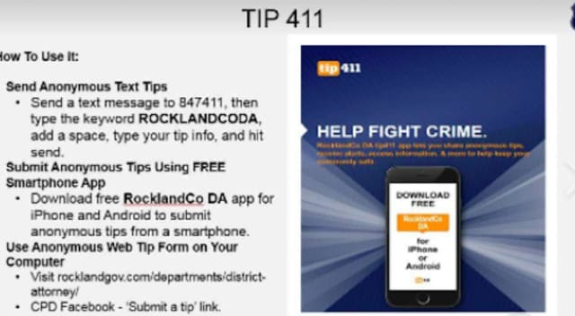 Clarkstown Police Promote New Way To Send Anonymous Tips