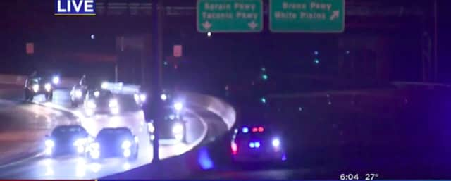 A look at the scene of the wrong-way crash on the Bronx River Parkway.