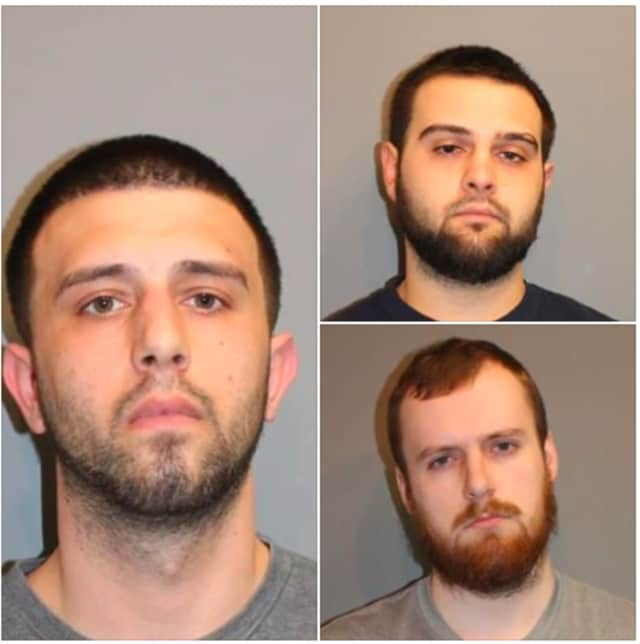 Michael Maiorino, left, Joseph Ponger, top right, and Luke Sweeney, bottom right.