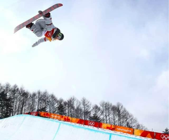 USA's Chloe Kim won snowboard halfpipe gold.