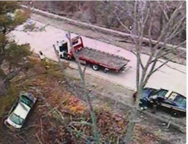 A look at the crash on the  Exit 3 ramp on the northbound Taconic State Parkway to the  Saw Mill River Parkway.