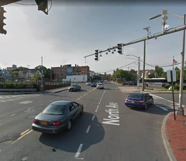 Police activity was reported in downtown New Rochelle.