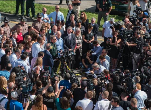 """May they rest in peace,"" said Broward County Sheriff Scott Israel, during a Thursday press conference. ""May God comfort their families."""