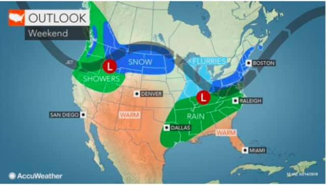 A look at the storm system that will affect the area Saturday night into Sunday.