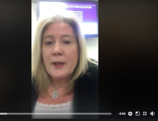 Assemblywoman Holly Schepisi recorded what she saw Monday in the unemployment office.
