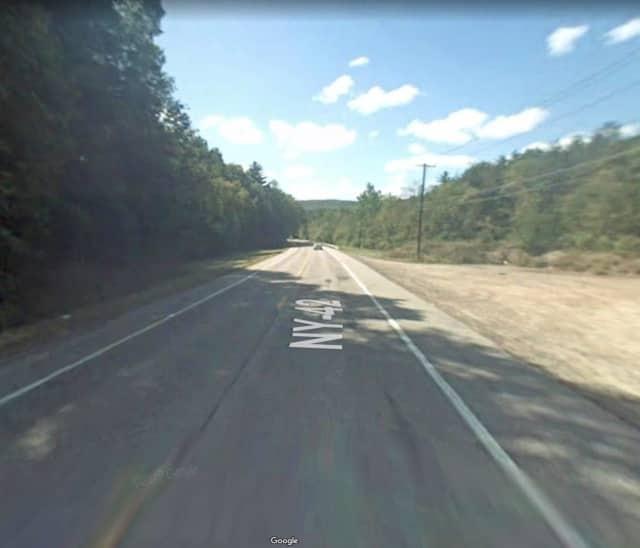 Route 42 in Sparrowbush.
