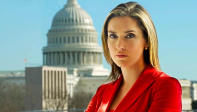 "Margaret Brennan of Stamford, the newest face at CBS' ""Face the Nation."""