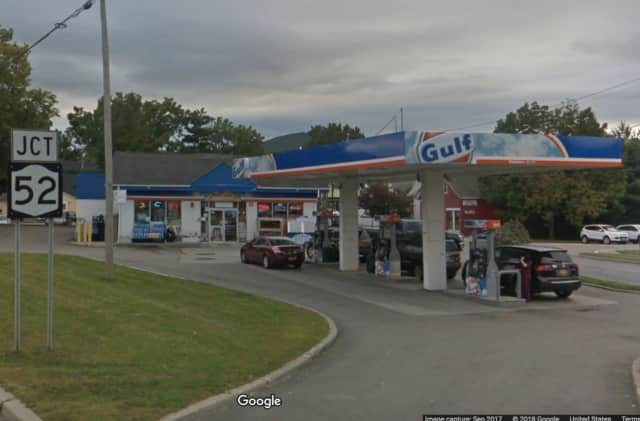 Police are asking for helping to find the person who robbed the gas station in Fishkill.