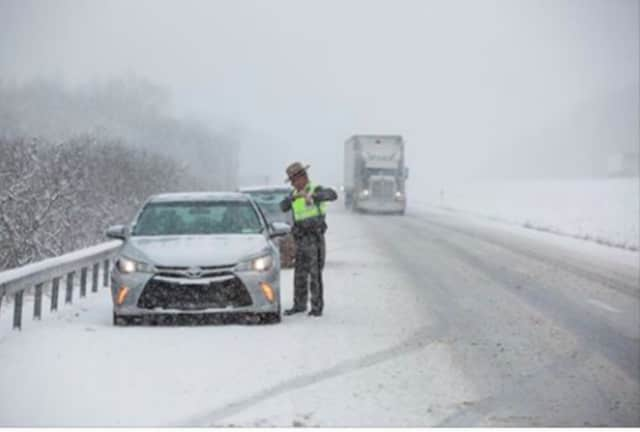 State Police have banned all high-profile vehicles on various thruways.