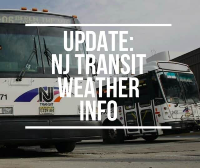 NJ Transit cancelled bus service across New Jersey Wednesday.