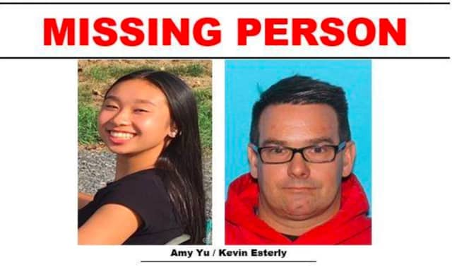 Amy Yu, 16, and Kevin Esterly, 45.
