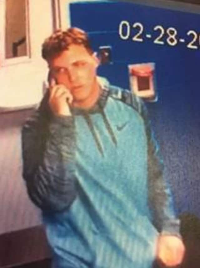 The Stamford Police Department released this photo of the suspect who allegedly stole items from the Twin Rinks skating rink.