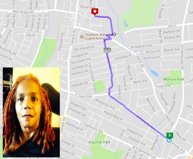 This is the route Kathy Moore (inset) rode home in her motorized wheelchair after a broken bus showed up -- again -- to her stop in Englewood.