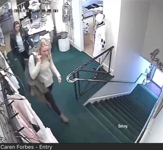 Two women suspected of stealing from a New Canaan retail store were caught on camera.